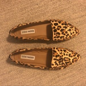 0b6e4e616bdf Steve Madden Shoes - Steve Madden Featherl Leopard Print Loafers